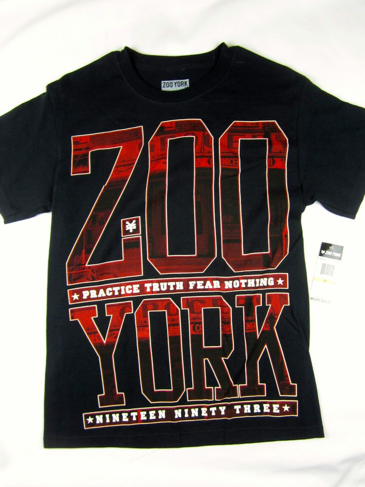 Zoo York NYC urban skate short sleeve t shirt men's black size MEDIUM #ZooYork #GraphicTee
