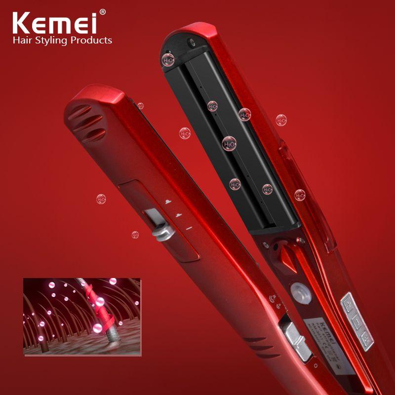 Kemei3011 Vapeur Et Sec Fer Cheveux Lisseur Professionnel Coiffure
