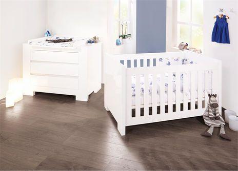 Sparset Sky breit (Babybett 70x140, Wickelkommode) - pinolino babyzimmer design