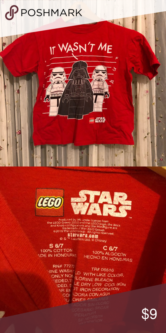 a5ed2eb3f Lego Star Wars boys t shirt darth Vader & Storm Troopers line-up ...