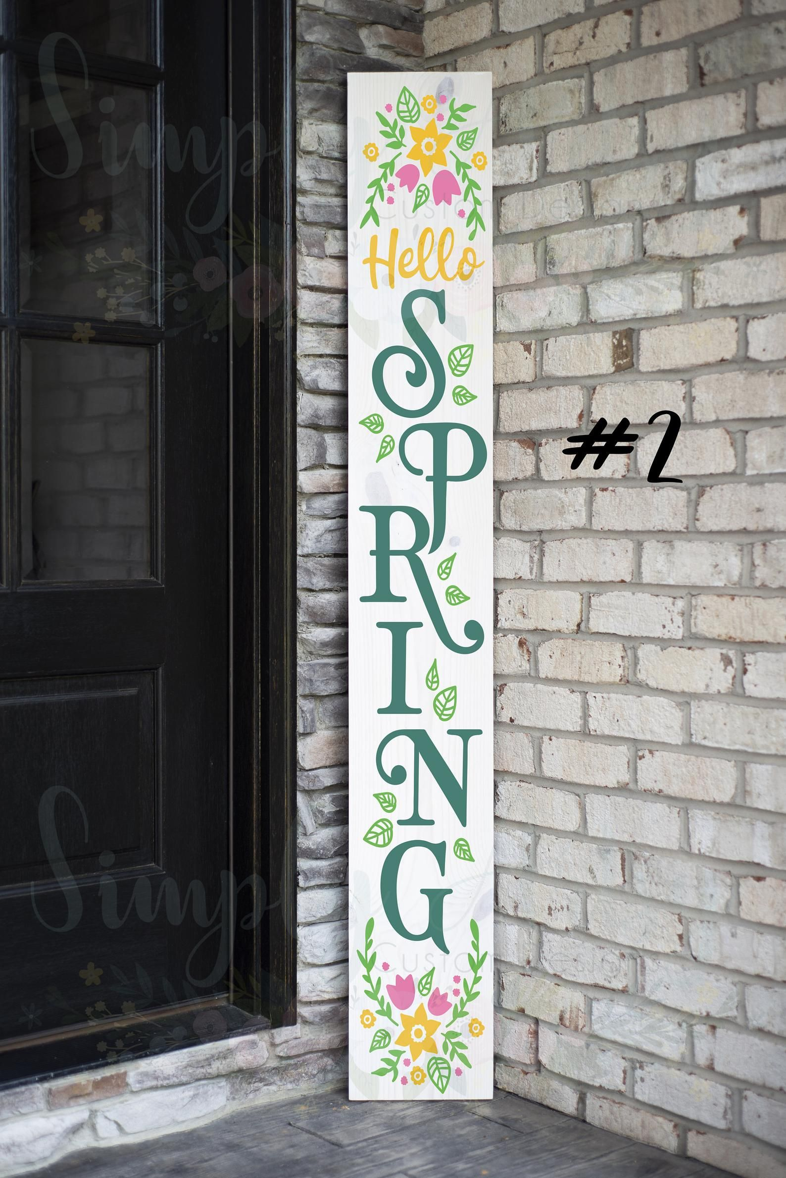 Hello Spring Front Porch Sign Etsy Porch Signs Front Porch Signs Easter Wood Signs