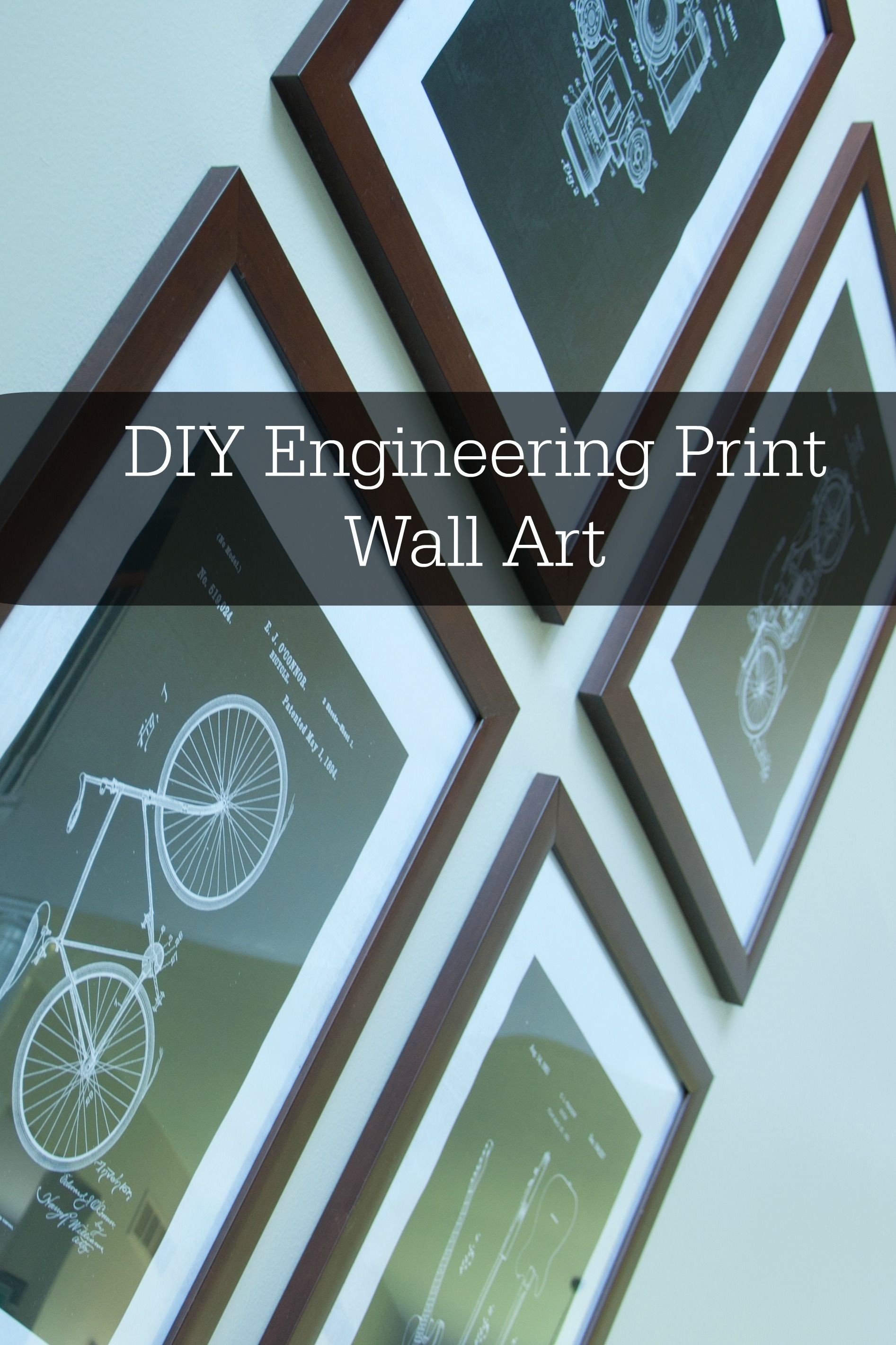 Create affordable large scale wall art with diy engineering prints