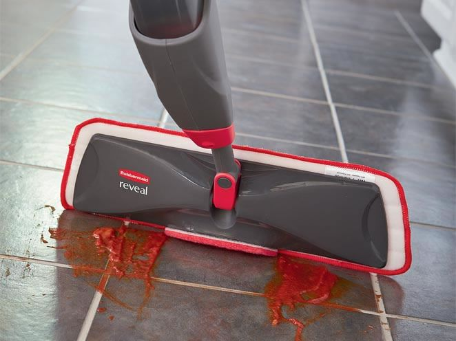 Reveal a better way to clean with the Rubbermaid Reveal Spray mop: a non-scratch scrubber helps you loosen stubborn spots. The washable, reusable microfiber pad and refillable bottle help you save more and waste less.