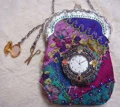 Crazy Quilt sewing purse/chatelaine By Pat Winter