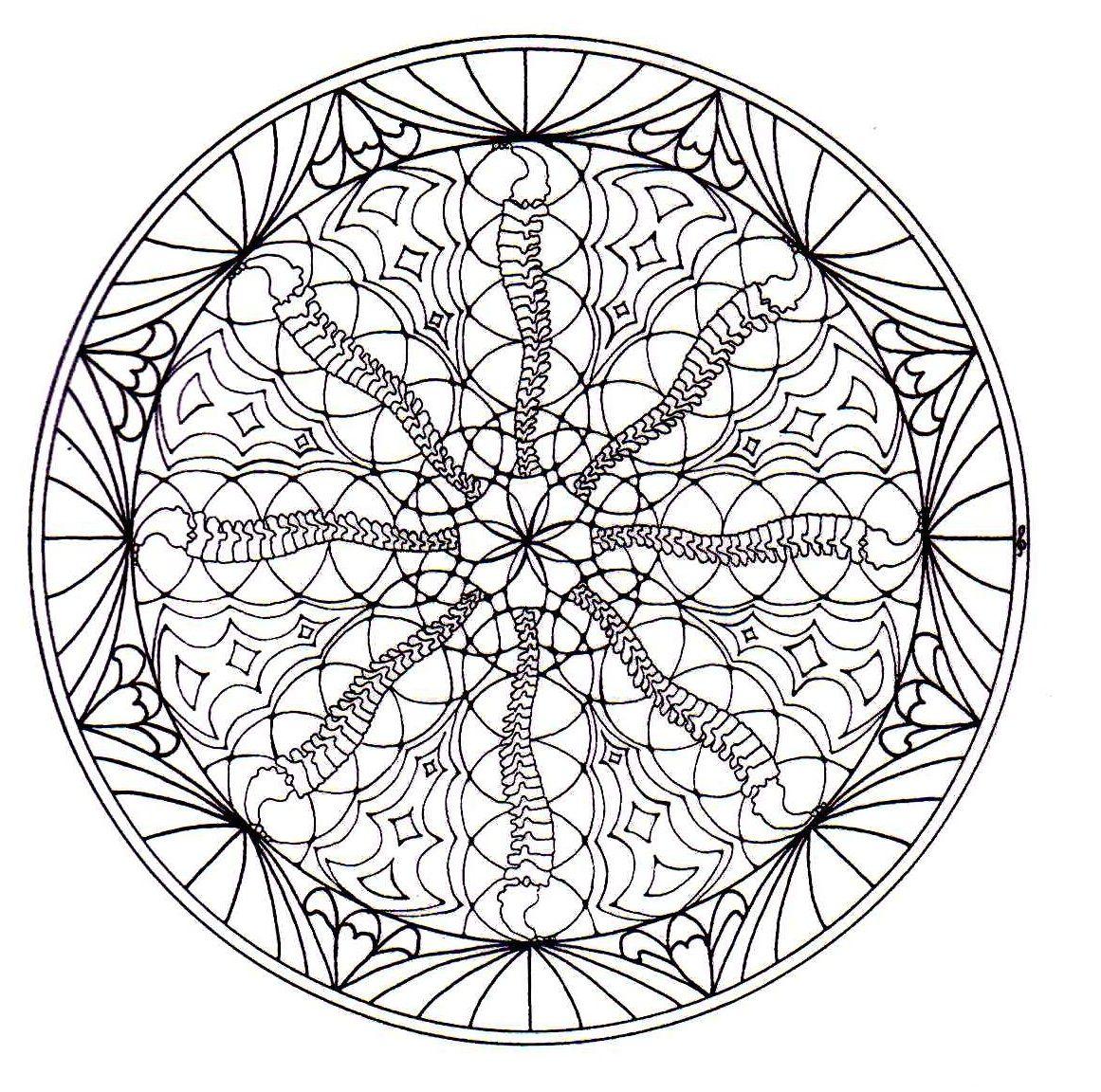 Mándalas para Colorear de Flores de Loto (12)   Ilustration ...