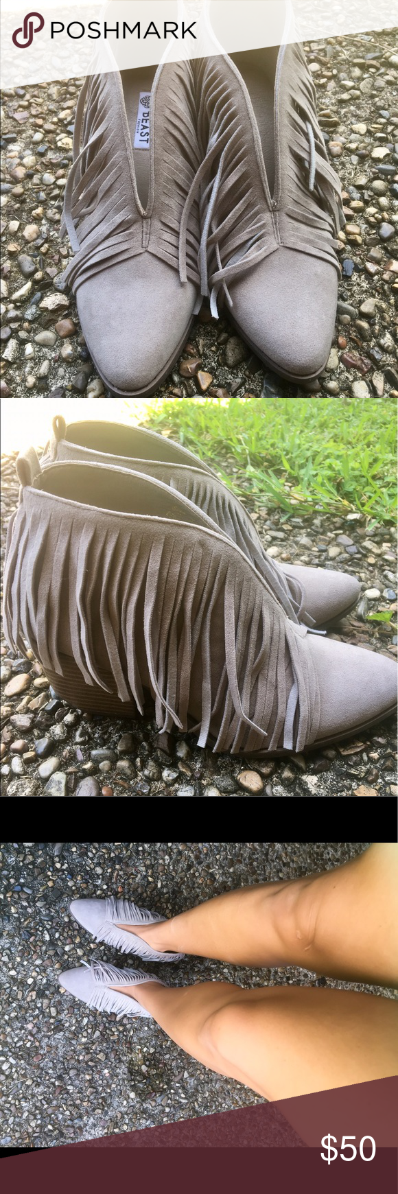 Tassel booties Tassel booties with v Shoes Ankle Boots & Booties