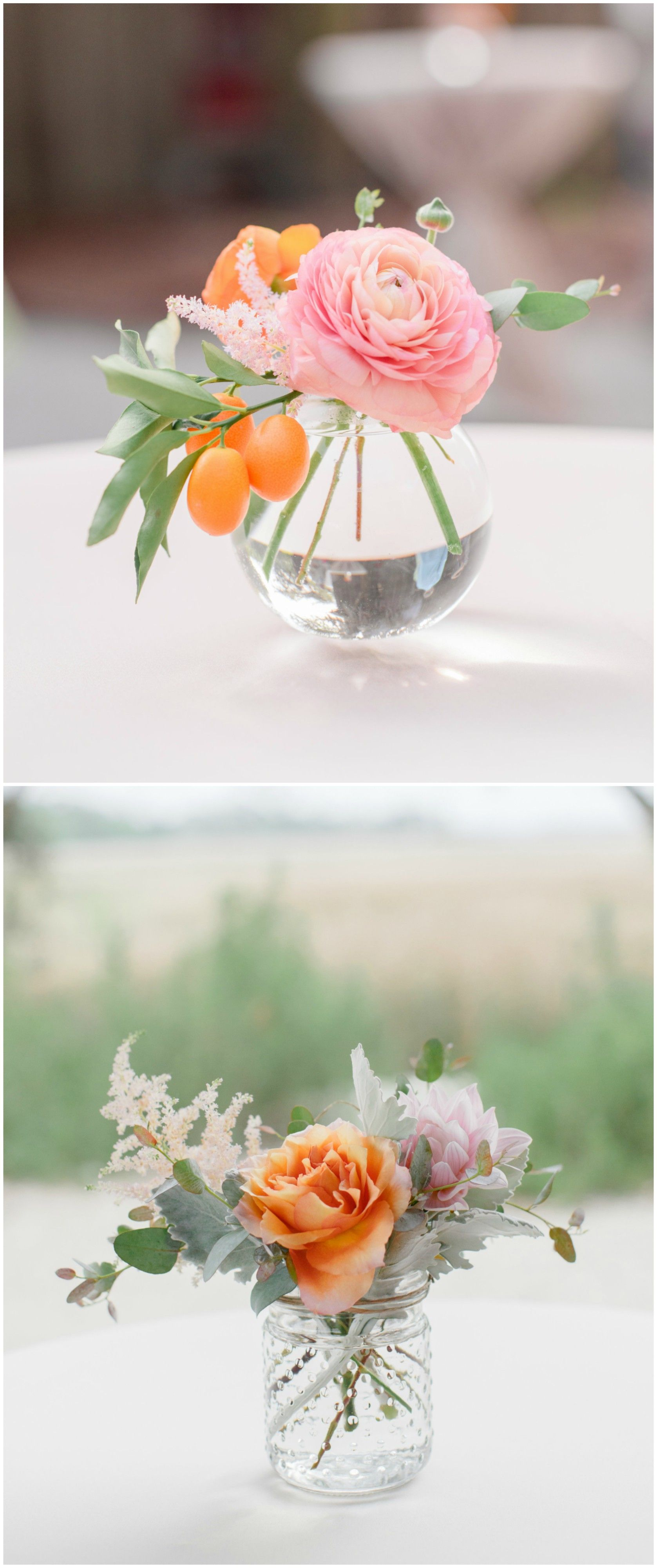 The Smarter Way to Wed | Simple wedding reception, Small glass vases ...