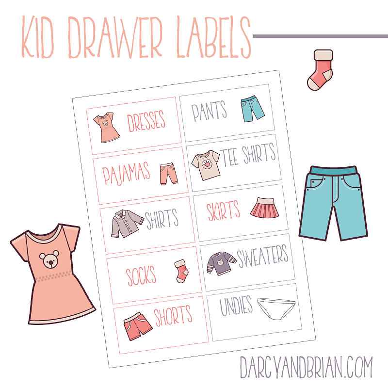 Printable Labels For Organizing Kids Clothes Plus Tips is part of Boys Clothes Organization - Grab our Free Printable Labels For Organizing Kids Clothes! These are perfect for sorting and keeping your kids clothing in order with ease!