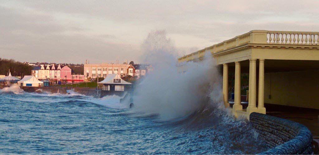Storms at Barry Island