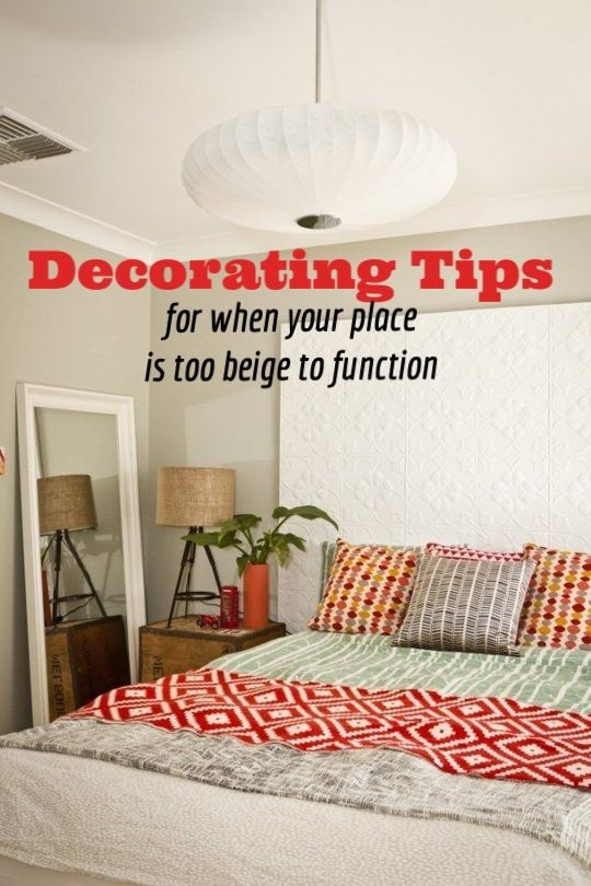 How To Fight The Rental Battle Of The Beige In Every Room In The House Beige Room Rental Decorating Flat Decor