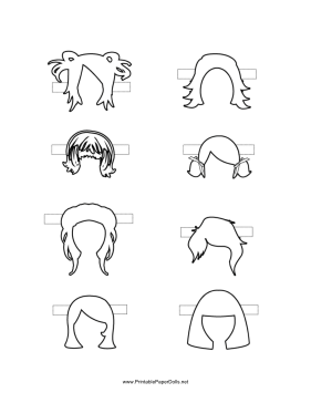 Printable Hair Templates For Paper Dolls