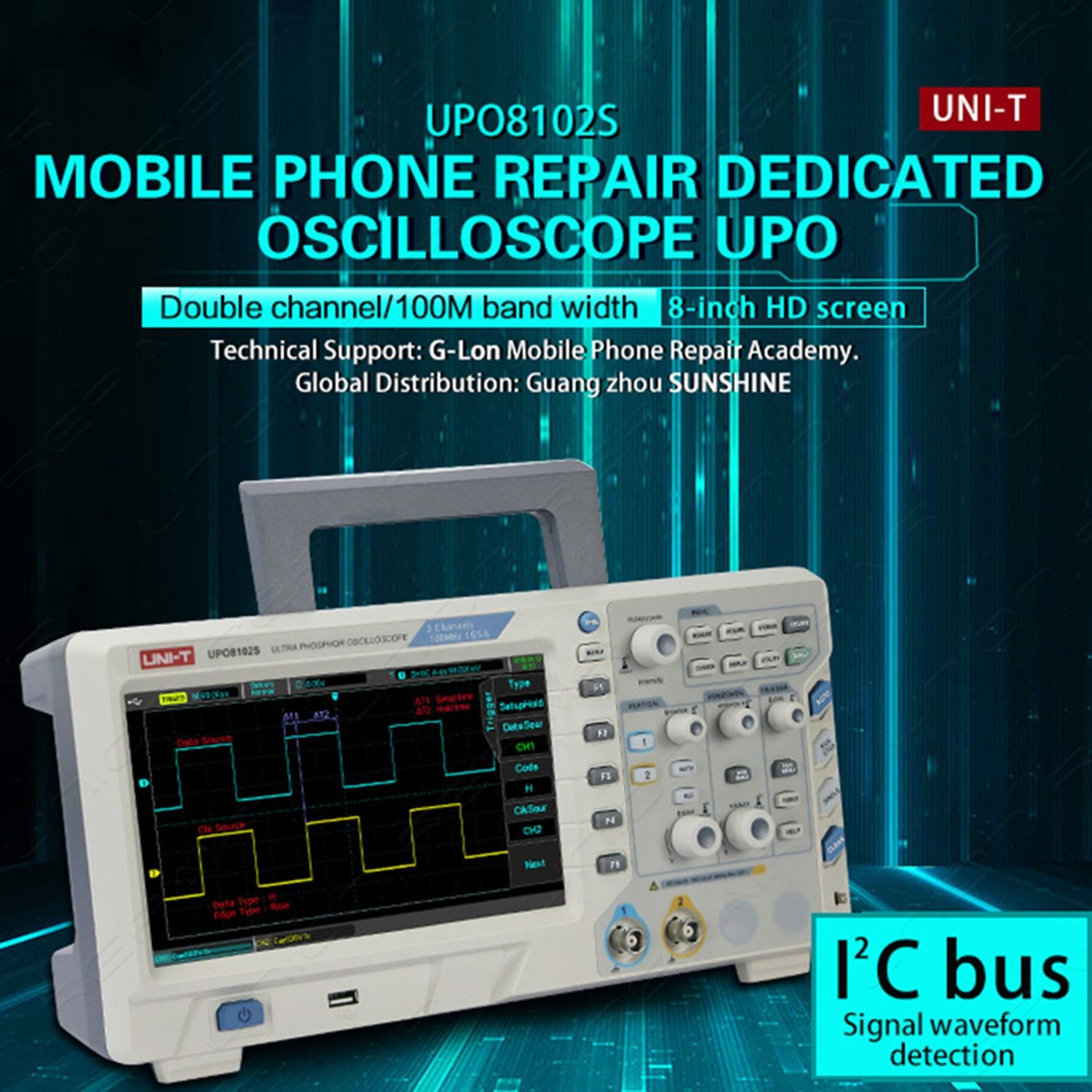 Uni T Upo8102s Ultra Phosphor Oscilloscope For Mobile Phone Repair Cell Circuit Board Clamp Fixture Stand Toolsin Tool