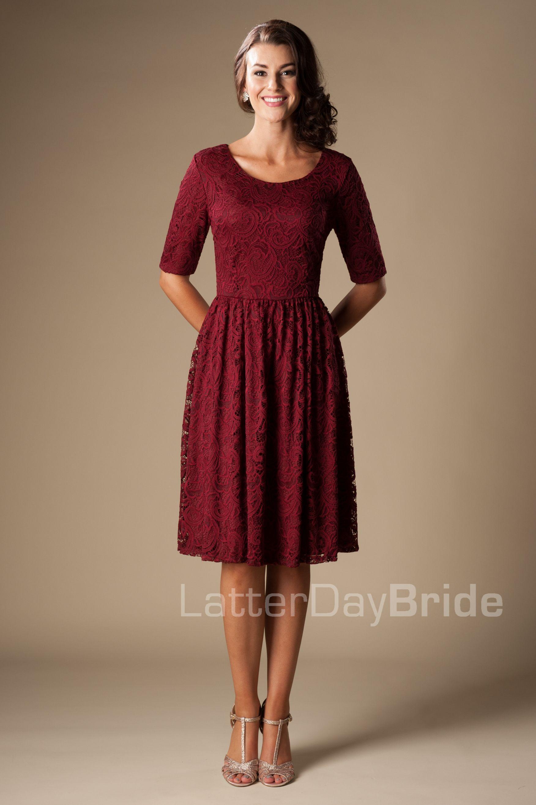 modest bridesmaid dress mw22880 burgundy 55. Black Bedroom Furniture Sets. Home Design Ideas