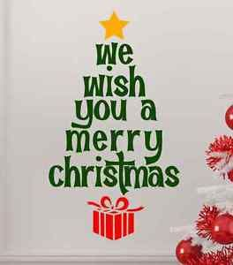 We Wish You A Merry Christmas Wall Decal Sticker Home Decor Diy Christmas Wall Decal Merry Christmas Yall Christmas Tree Quotes