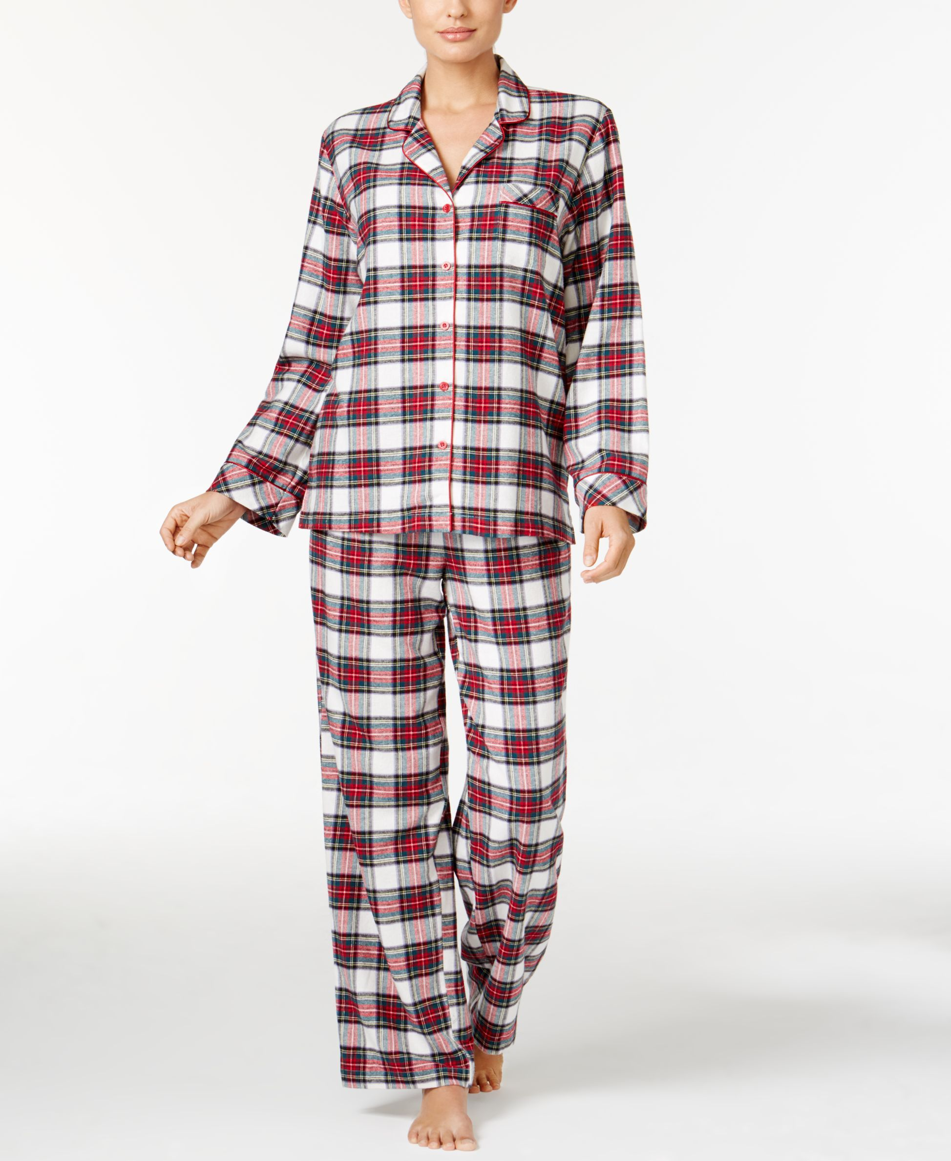 223fa86f01 Charter Club Petite Flannel Pajama Set