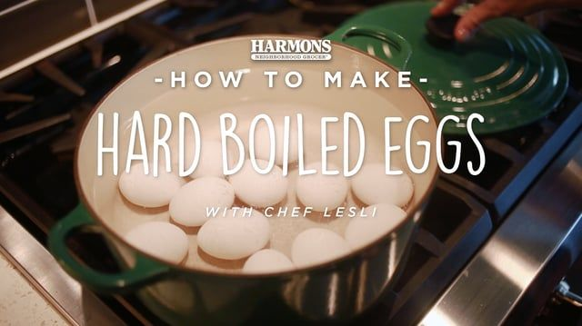 Here are some quick tips for how long to cook and how to make the best hard boiled eggs. #MyHarmons