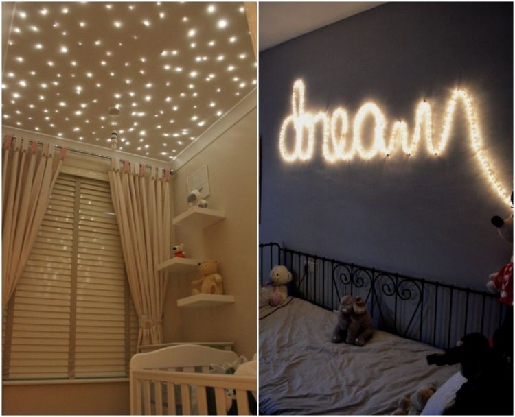 diy-idee-beleuchtung-kinderzimmer-lichterketten-led-leuchten ...