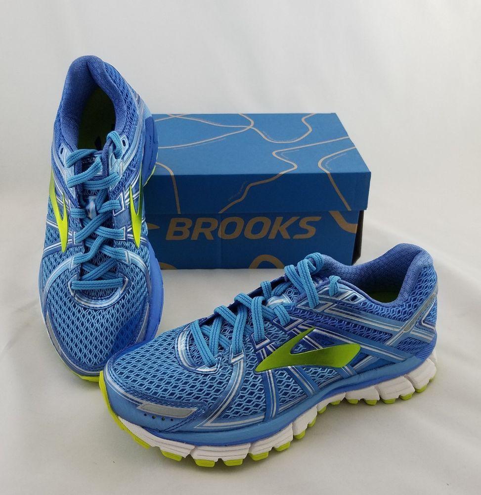 Brooks Adrenaline Gts 17 Azure Blue Lime Running Shoes Sneakers Women S 6 5 B Brooks Runningshoes Cute Sneakers Womens Shoes Sneakers Sneakers