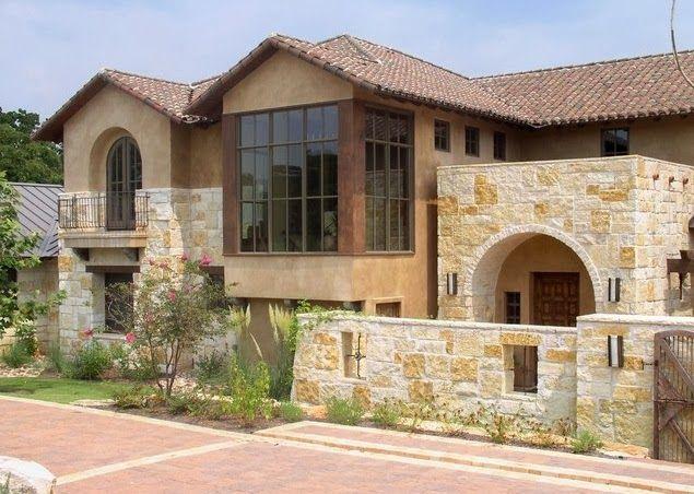 Fachadas de piedra fachadas de casas de piedra modernas - Patios de casas modernas ...
