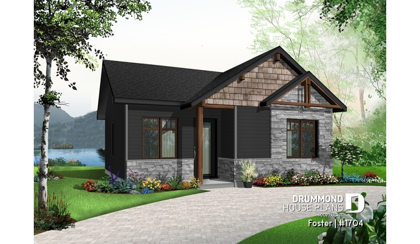 Discover The Plan 1704 Foster Which Will Please You For Its 2 Bedrooms And For Its Modern Rustic Styles Small House Design Plans Rustic House Plans Cheap House Plans
