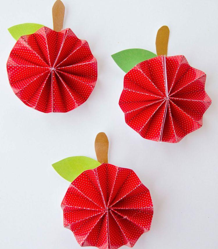Apfel falten  Eine einfache Anleitung  Basteln