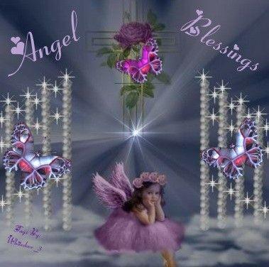 Glitter Blessings | Clipart » Fantasy » Heavenly Angel Blessings ...