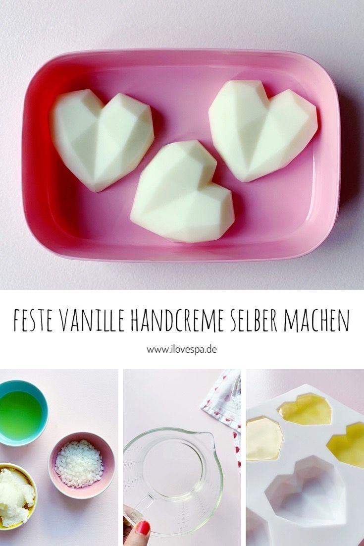 Feste Handcreme selber machen mit Vanilleduft und aus nur 3 Zutaten