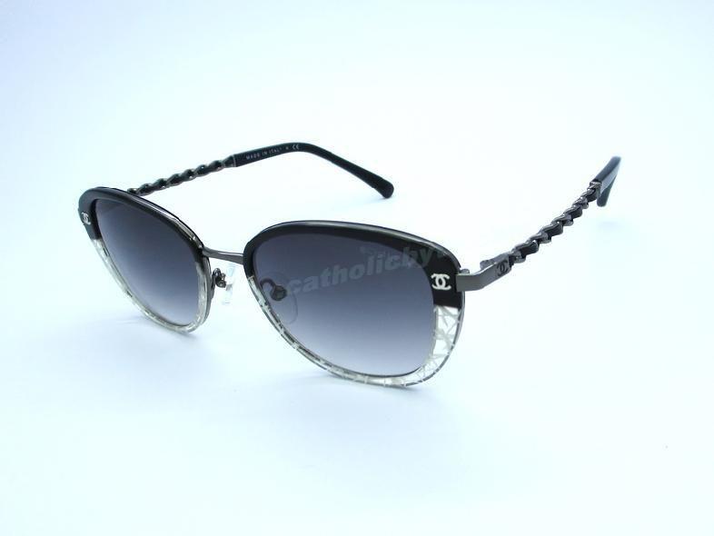 ac7a7e5e86 New Chanel 5687 Black Frame Grey Lens Oval Sunglasses For Black Friday For  Wholesale