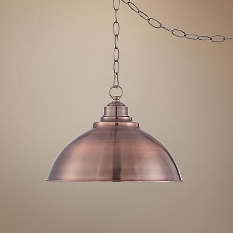 Indulge in some modern yet rustic charm with this traditional dome pendant light.