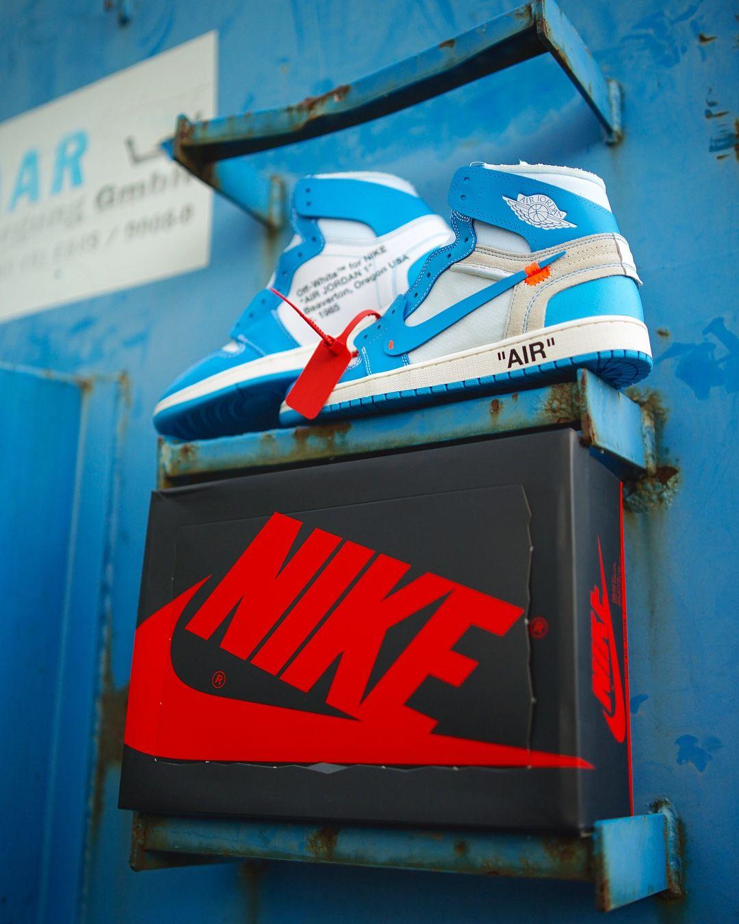 Off White X Air Jordan 1 Unc Blue With Images Air Jordans