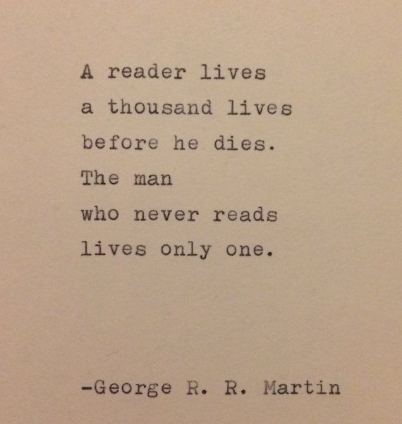 Photo of George R. R. Martin Quote Typed on typewriter