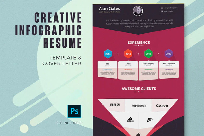 How to Make a Great Infographic Resume With Word or PSD