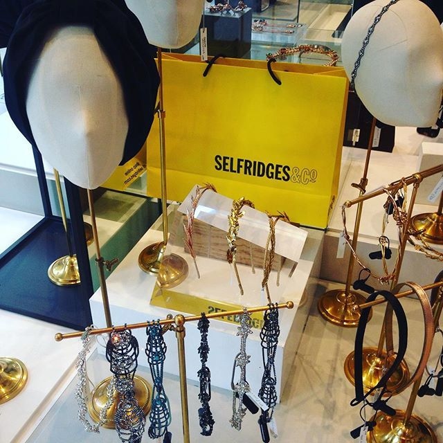 It's official! Our pop-up-shop is launched at #Selfridges ! It's the largest selection of Jennifer Behr pieces in the UK and Europe. Turbans headbands headwraps and all sorts of special pieces. ground floor Duke Street side. #london #limitedtime #jenniferbehr #headpiece @selfridges_accessories by jenniferbehr