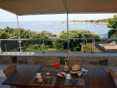Location vacances villa Tizzano Vue mer depuis la terrasse pour
