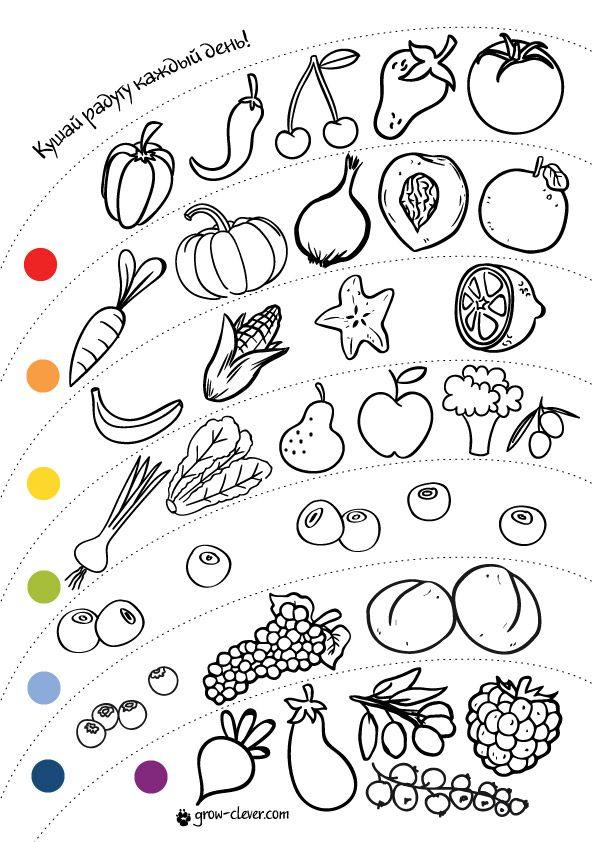 игры для детей витамины полезная и здоровая еда