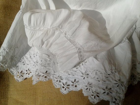 9285daf3252 50 s Petticoat - Handmade - Cotton and Lace - French- Antique ...