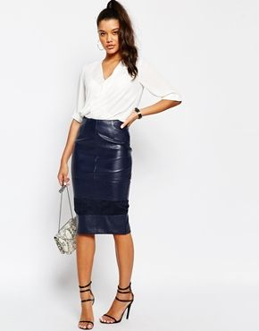 River island navy leather skirt – Modern skirts blog for you