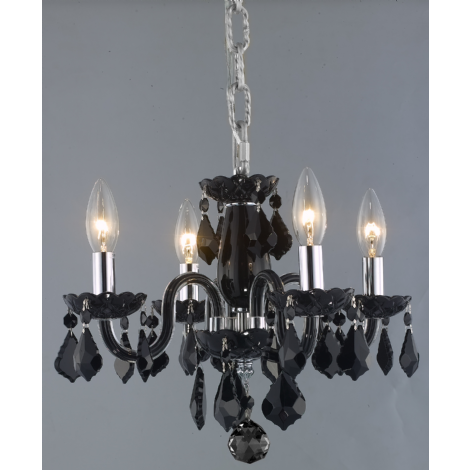 Luminaire suspendu style classique avec structure en cristal de