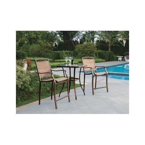 Bistro Set Outdoor Bar Stool Sling Counter Tall Home Patio Furniture