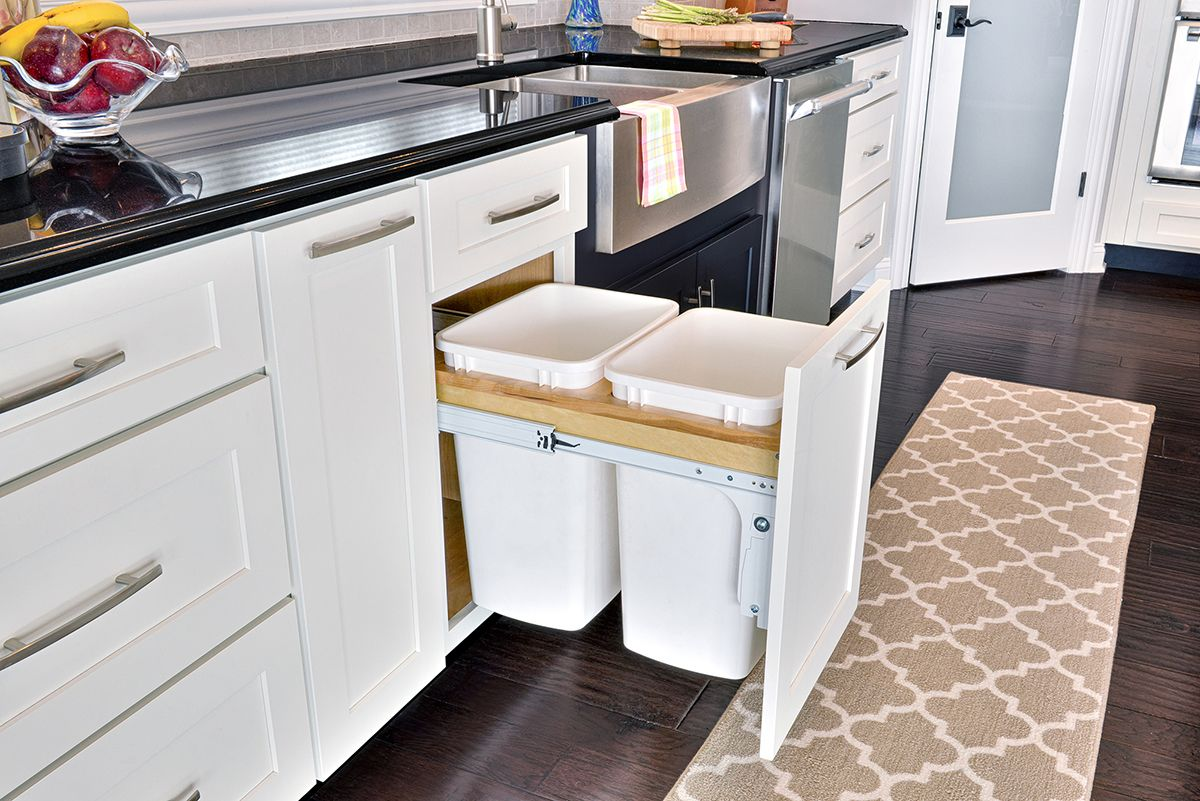 cliqstudios Pull-out trash can cabinets store waste and recycling at ...