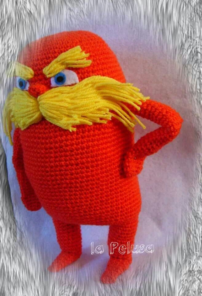 Lorax https://www.facebook.com/Dpelusa | Crochet | Pinterest