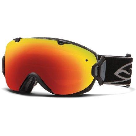 7ddf14abc5b86 Smith I OS Snow Goggles - Black Frame - Red Sol-X Mirror Lens - Women s