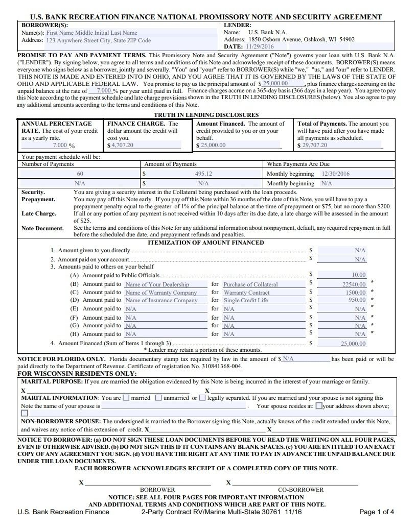 Promissory Note Templates 16+ Free Word, Excel & PDF