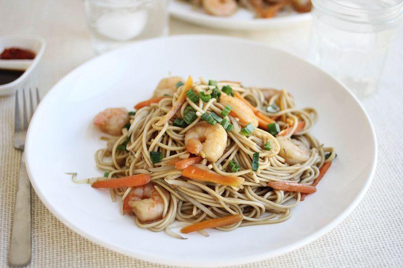 Shrimp Lo Mein - A Beautiful Mess