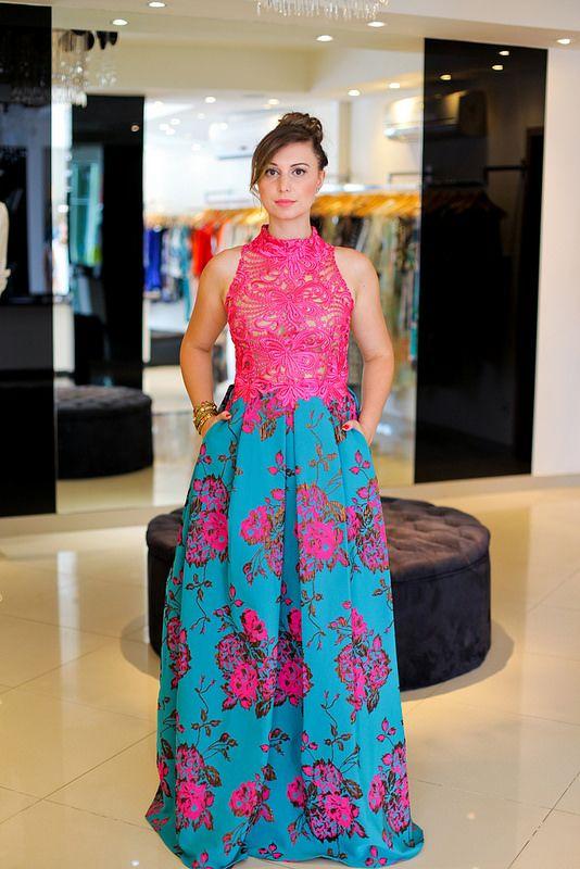 Vestido de festa Patricia Bonaldi.