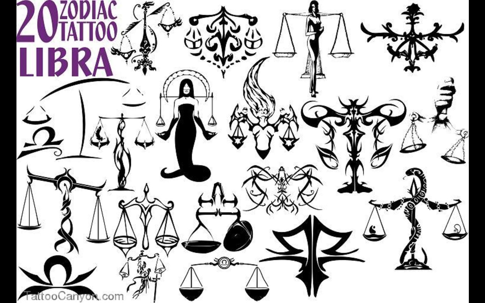 Libra Zodiac Sign Tattoo Designs Libra Zodiac Sign Tattoo Designs