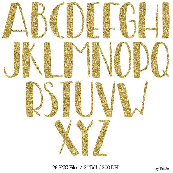 Buy 3 Pay For 2 Sparkle Alphabet Clip Art Gold Glitter Etsy Gold Clipart Digital Alphabet Clip Art