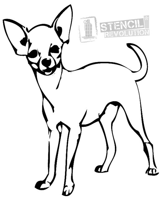 Chihuahua Stencils On Stencil Revolution Dog Coloring Page