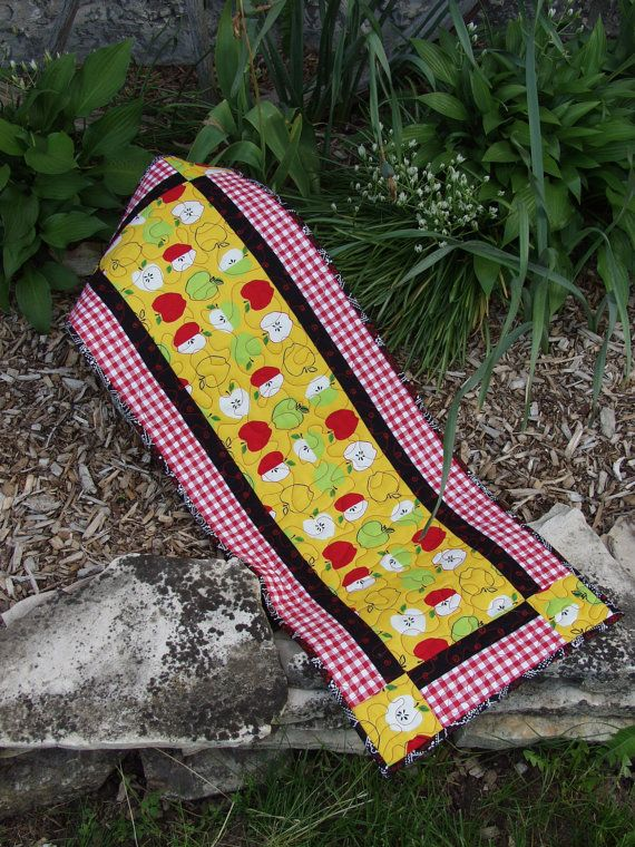 Apple Table Runner Retro Table Runner Apple Decor By SewingatTen