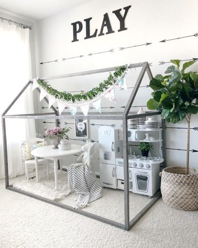 Indoor Play House is part of Basement playroom -